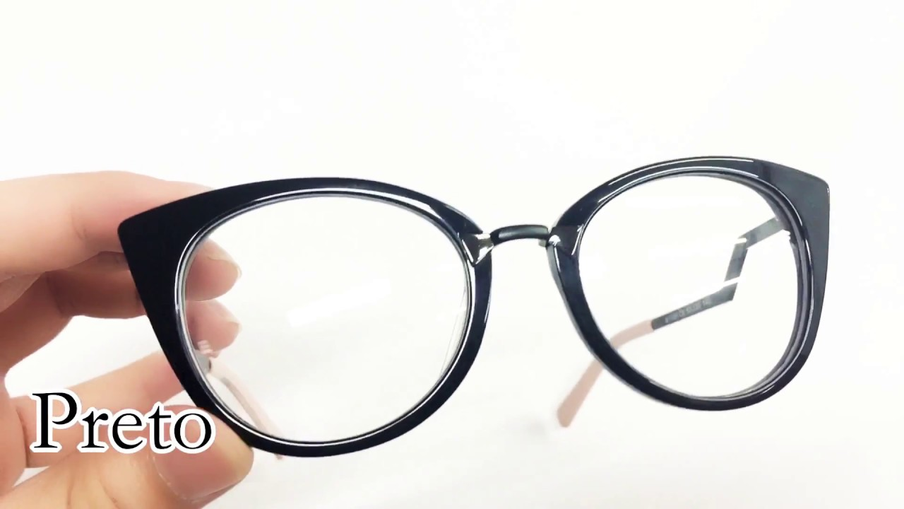 Armação De Oculos De Grau Fem Estilo Fendi Barata - YouTube e533f157fd