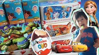 [玩具] 健達奇趣蛋 冰雪奇緣 迪士尼汽車總動員 Kinder's Surprise Egg Frozen Elsa Disney Cars Super Wings | 小陶德沛莉