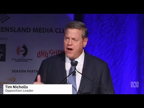 Tim Nicholls tells the Queensland Media Club he's the 'real thing'