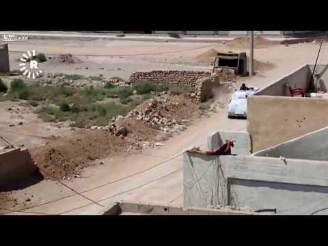 POV Footage Shows ISIS Fighter Shooting at Camera Man First Then Blowing Himself up