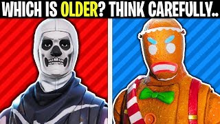 WHICH ONE IS OLDER? (Fortnite Test)
