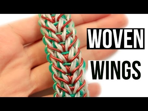 Rainbow Loom Woven Wings Bracelet | One Loom Tutorial
