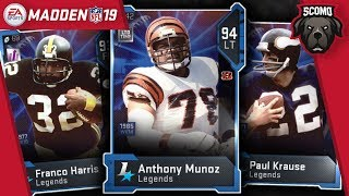 Paul Krause, Franco Harris & Limited Anothony Munoz - Madden NFL 19 Pack Opening