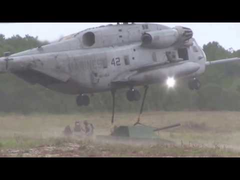 CH-53E Super Stallion Lifting US Marines