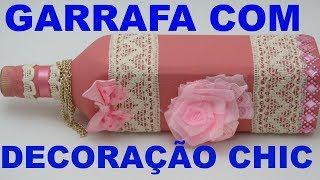 DECORAÇÃO CHIC EM GARRAFA