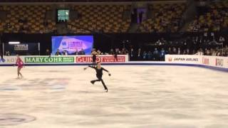 Evgenia Medvedeva -  LP Practice Worlds 2016 (3-3-3 combo, Rippon+Tano)