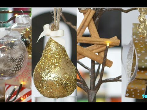 4 dazzling diy christmas ornaments glam it yourself youtube 4 dazzling diy christmas ornaments glam it yourself solutioingenieria Gallery