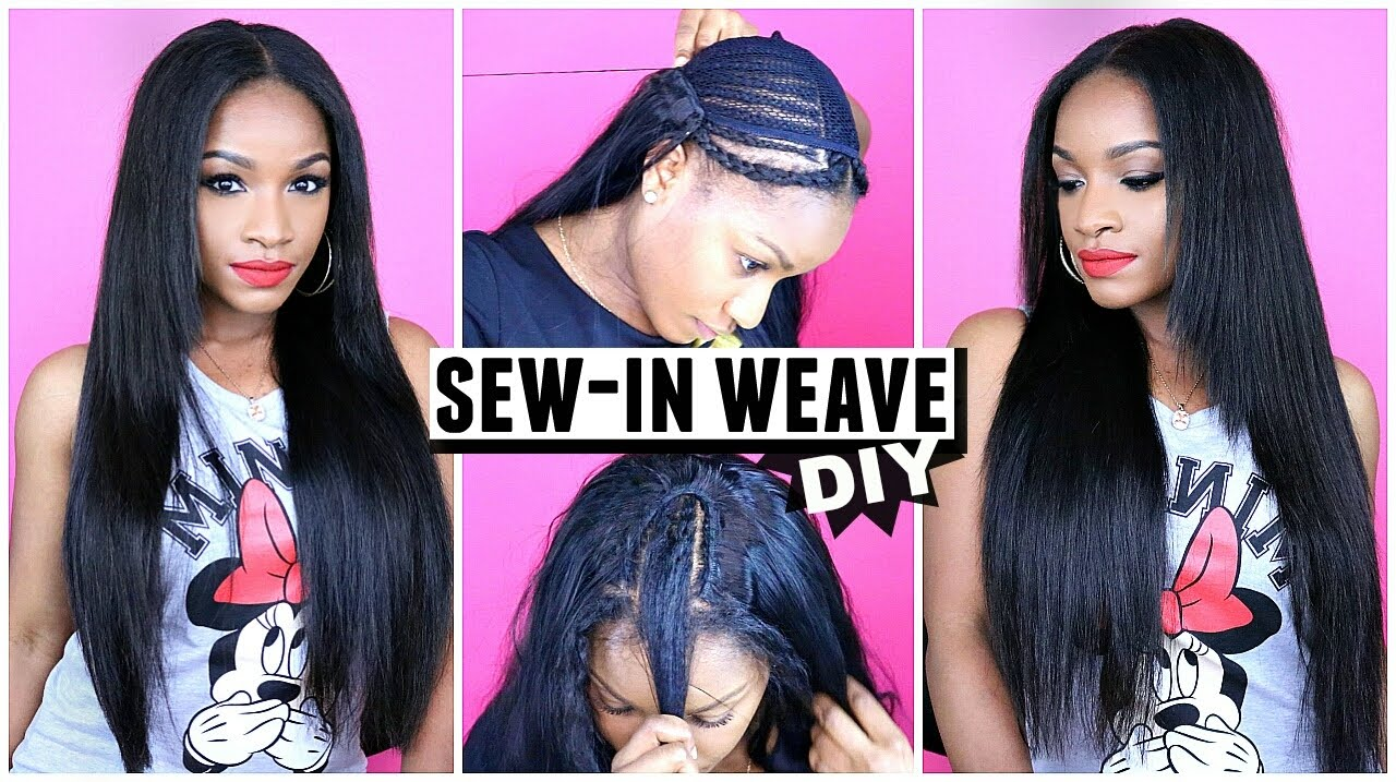 how to do a sew-in weave from start to finish! grace hair aliexpress
