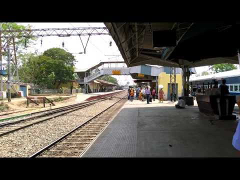 Two trains on the same track at Chandannagar station