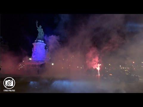 #NuitDesBarricades après le 1er tour des élections présidentielles - Paris 23/04/17
