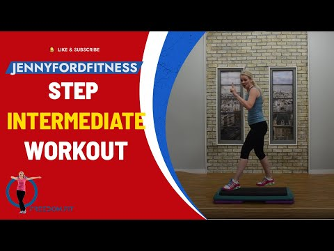 Super Sweaty Step Aerobics At Home Workout with Four Combos (Intermediate) bc3cdd343