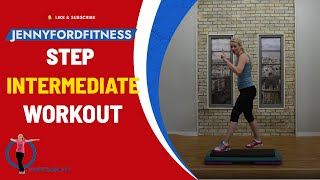 Super Sweaty Step Aerobics At Home Workout With Four Combos (Intermediate)