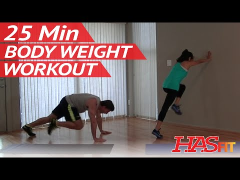 25 Min Insane Body Weight Workout for Women & Men - Workouts without Weights Bodyweight Exercises