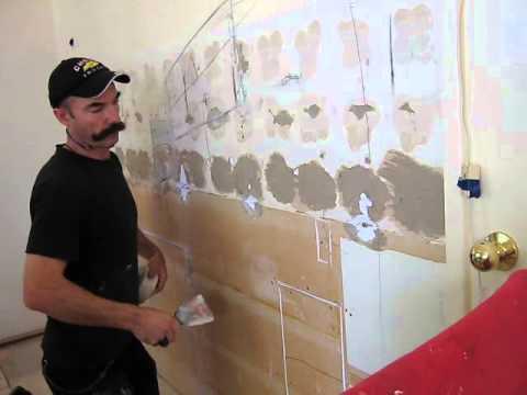 Patching drywall-taken from kitchen renovation 16