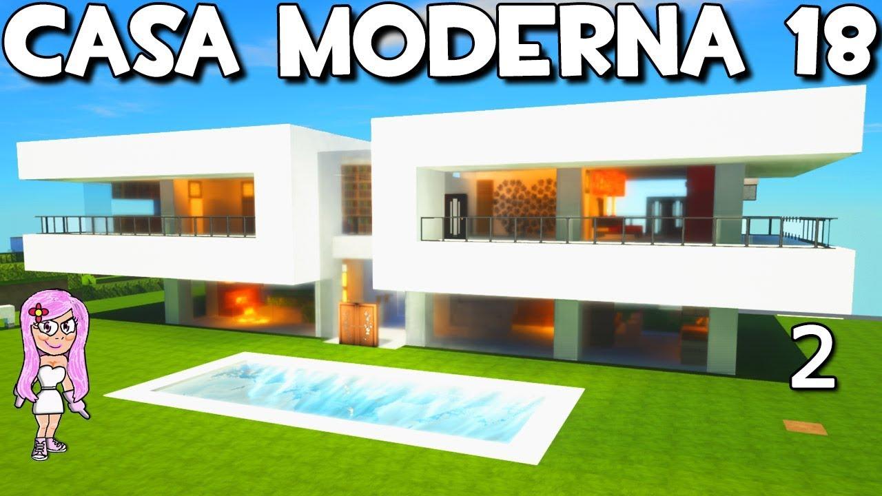 Casa moderna 18 con piscina en minecraft como hacer y for Casa moderna 6 mirote y blancana