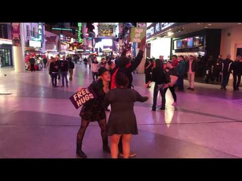 Trust Hugs on Fremont Street in Vegas