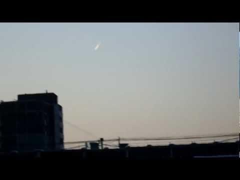 Падающее небесное тело над Екатеринбургом