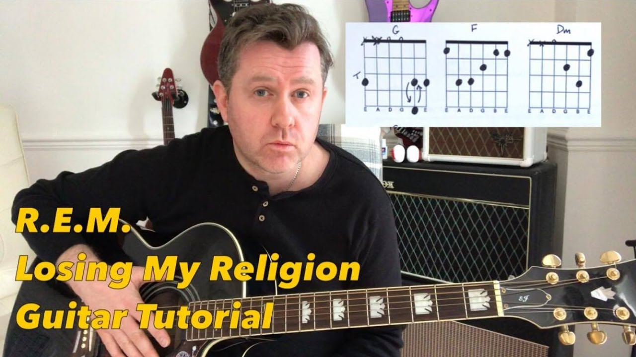 Rem Losing My Religion Guitar Tutorial Guitar Chord Boxes