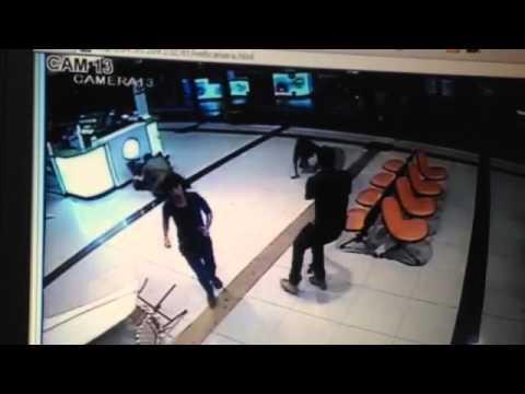 Security camera footage of Beersheba terror attack