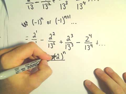 Writing a Geometric Series using Sigma / Summation Notation, Ex 2