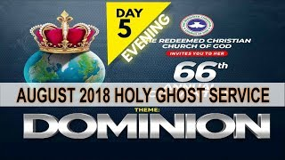 """AUGUST 2018- RCCG HOLY GHOST SERVICE """"Dominion"""""""