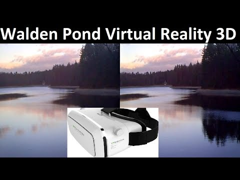 Walden Pond with Relaxing Music 3D ASMR Use your vr goggles. Virtual Reality