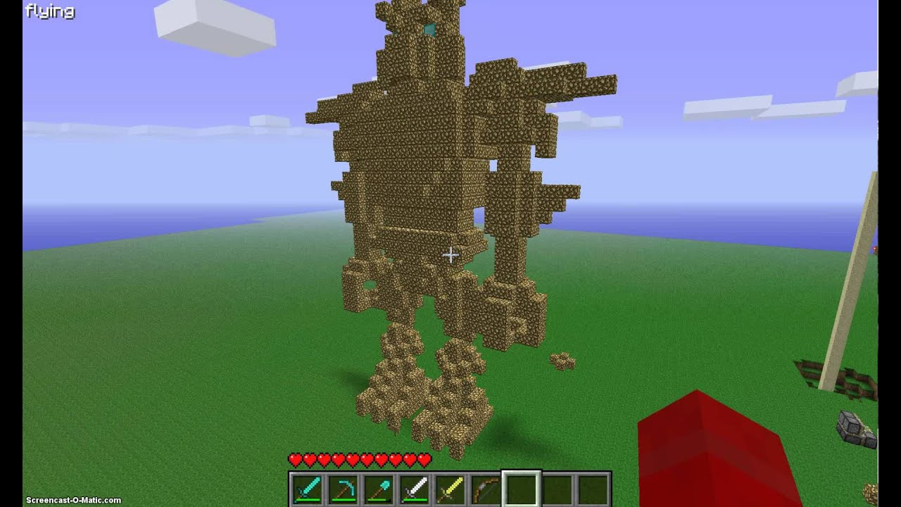 how to make a working robot in minecraft
