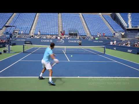 Grigor Dimitrov Practice US Open 2014 1/2
