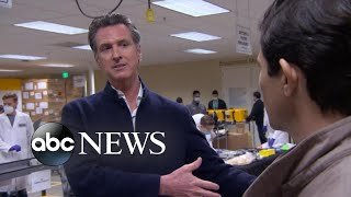 California governor discusses coronavirus cases in his state