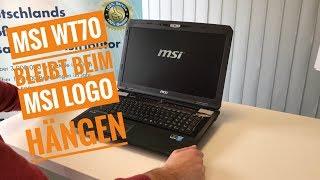MSI WT70 bleibt beim MSI Logo hängen