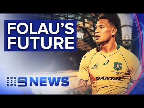 Conduct hearing for Wallabies star Israel Folau drags on | Nine News Australia
