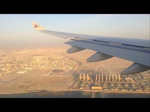A330 Qatar Airways - Milan MXP to Doha - FULL FLIGHT