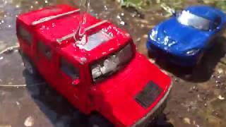 Машинки в грязи. Мойка машин. Джип, Гоночная машина и трактор