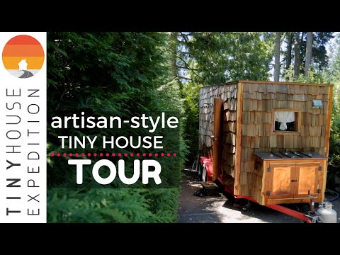 Nomadic Couple's Exquisite Hand-Crafted Tiny House