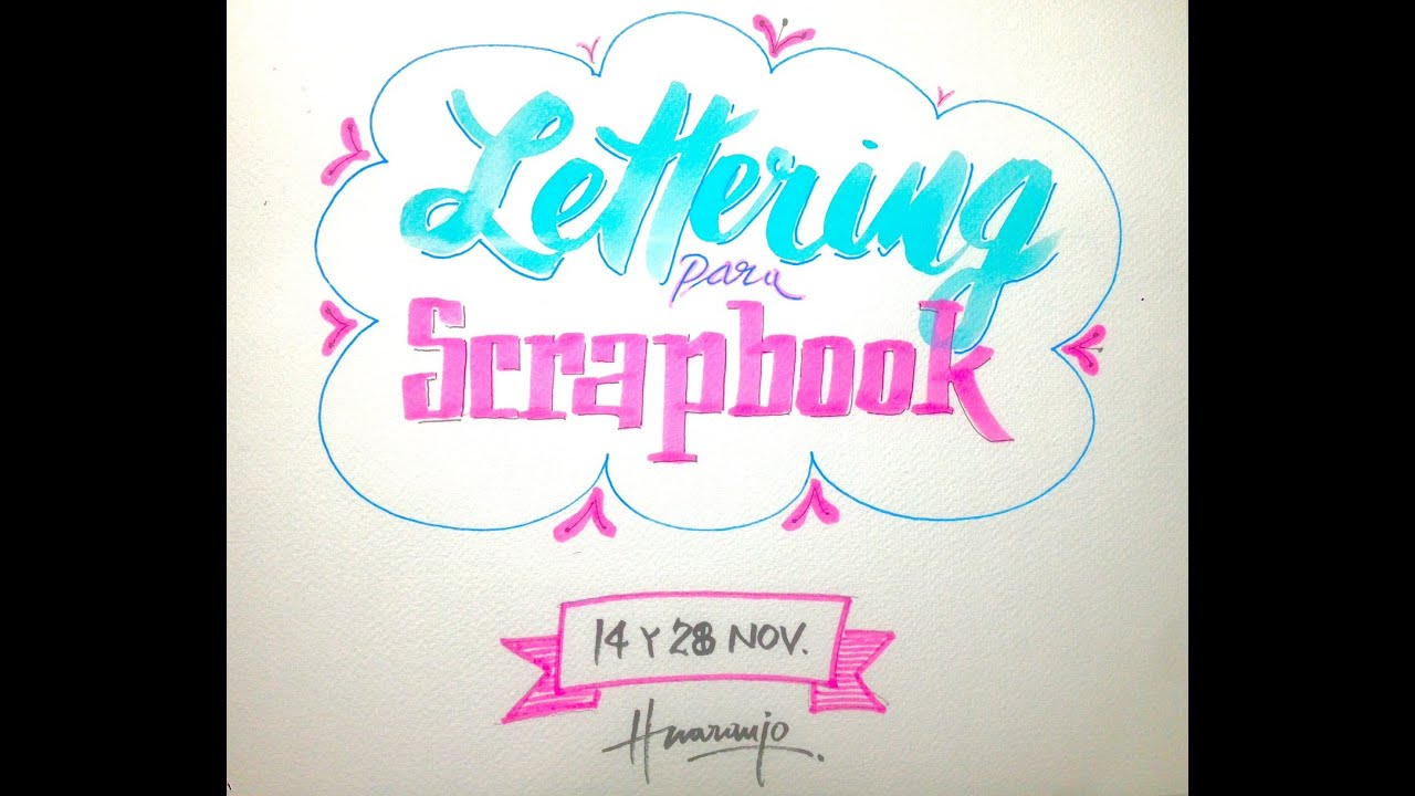 Lettering para scrapbooking youtube