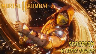 Mortal Kombat 11 Scorpion Klassic Towers (Online Stress Test Beta)