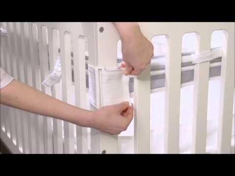 Fresh Air Mesh Crib Liner Bedding Sets Youtube