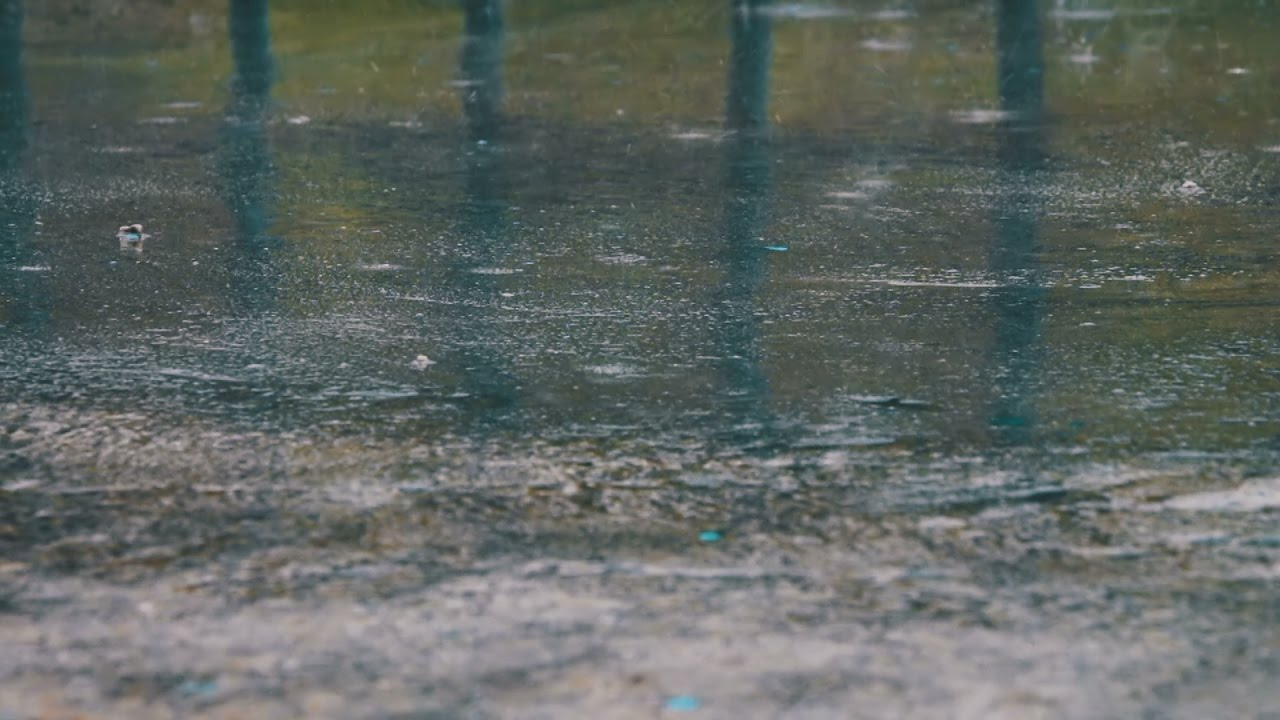 Raining On Street Pavement Sounds For Sleeping Relaxing Water Drops Heavy Downpour Ambience Youtube