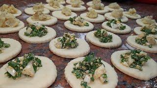 Рецепт-Пирожки с яйцом и зелёным луком(Самса пирожки с картофельным пюре)
