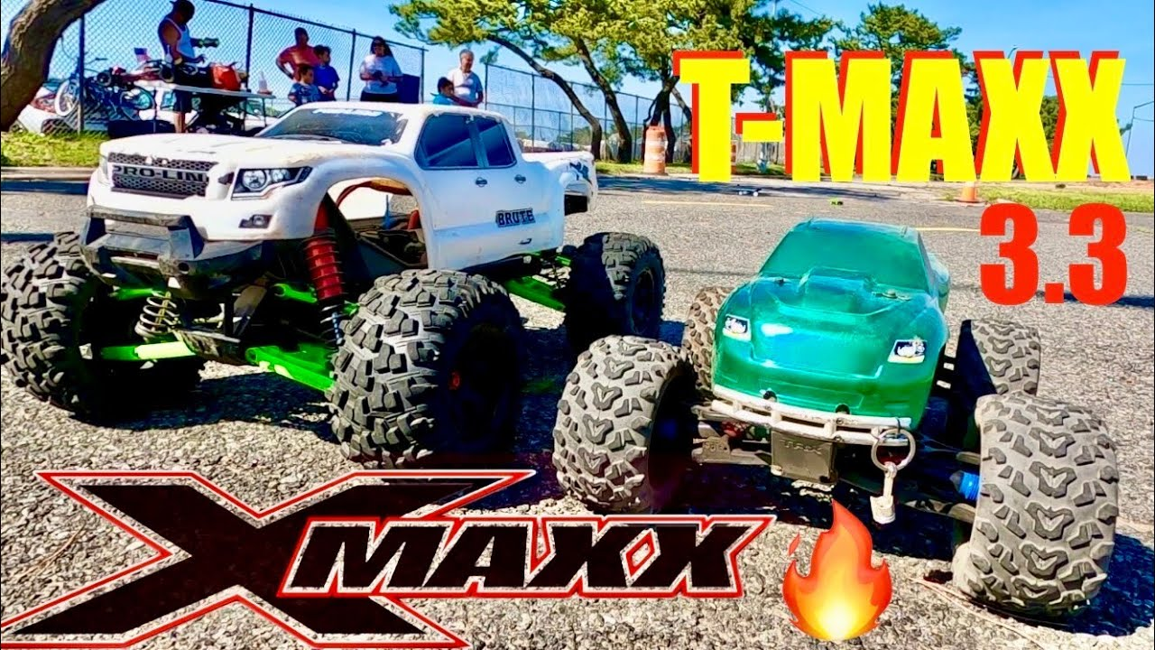 Traxxas T-Maxx 3.3 & X-MAXX Battle - Electric🔋 Vs. NItro⛽️ - Only One Survived the Race.