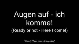 Repeat youtube video Oomph! - Augen auf! (Lyrics w/ English Translation)