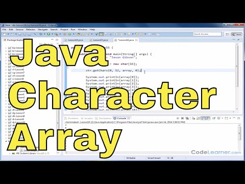Java Tutorial - 16 - Read Characters From A String Into A Char Array
