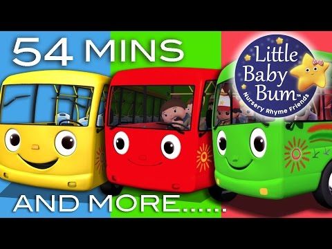 Wheels On The Bus  Plus Lots More Nursery Rhymes  54 Minutes Compilation from LittleBaBum!