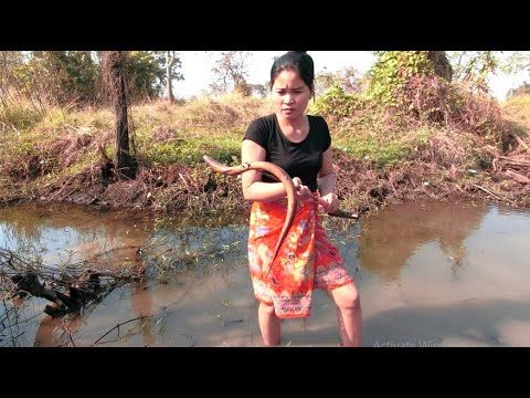 Survival skills: Hand-caught eels and ancient tools during the dry season (My life)