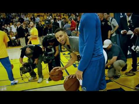 "Bruce ""Q"" Fraser  help get Stephen Curry and Klay Thompson  ready  Game 5-Finals June 12 2017"