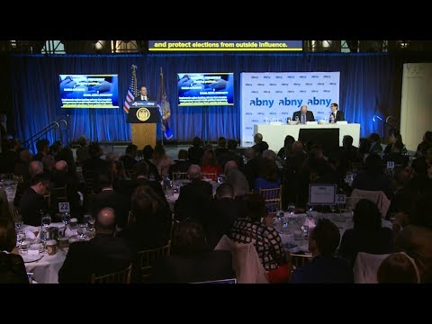 Governor Cuomo Makes an Announcement at the Association for a Better New York Breakfast