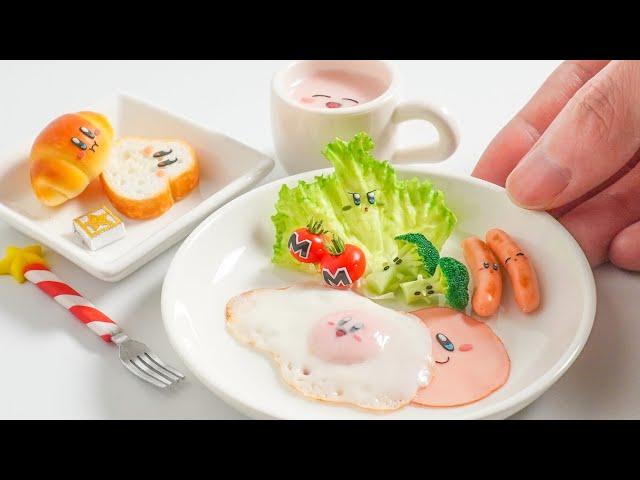 【粘土】カービィな朝食 作ってみた - Kirby Miniature Food