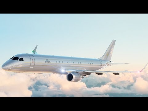 Inside The $80 Million Embraer Lineage 1000E Hollywood and Manhattan Luxury Private Jet Interiors