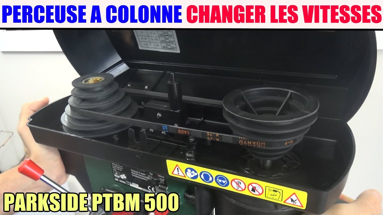 Changer Les Vitesse D Une Perceuse A Colonne Parkside Ptbm 500 Lidl