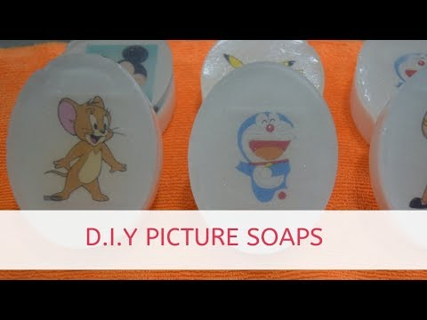 DIY : Picture Soaps using Water Soluble Paper #soapingwithsoapytwist